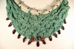 line, yarn, pearls, shell, glass